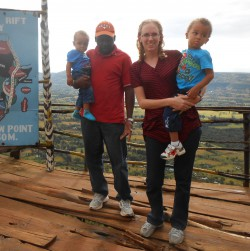 the Kenyan-Texan family at the Great Rift Valley