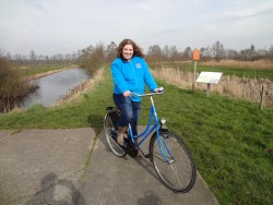 This is me and my sweet ride, the typical Dutch