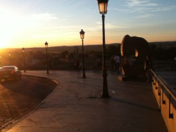 Sun set in old town Toledo. Another great place to visit for a day trip.