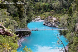 Swing bridge at Hokitika Gorge, South Island, New Zealand