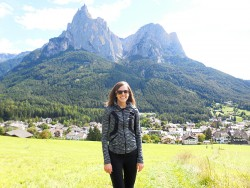 Hiking in the Italian Alps, the Dolomites.
