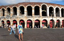 In front of the Verona Arena.
