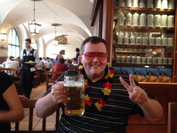 When in Munich, one must partake in the festivities at the Hofbrauhaus....we were in Munich to watch the finale of the World Cup to see Germany win