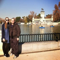 Marc and I in Madrid for Christmas.