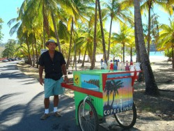 The snow cone man on Playa Carillo, Costa Rica, 20 minutes from our door.
