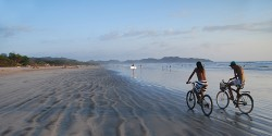 Early morning on the beach at Samara, Costa Rica, 15 minutes from our door.