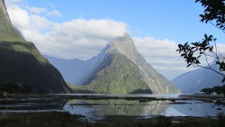 View of Milford Sound on the west coast of the south island