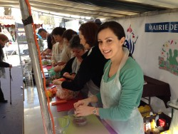 Free cooking lesson at one of the outdoor food markets