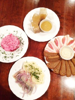 Various Russian cuisine I tried for the first time.