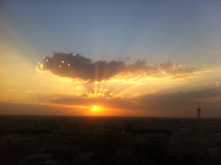 Sunset view of Riyadh