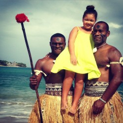 Fijian warriors look scary but they're real softies in truth
